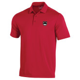 Under Armour Red Performance Polo-Wolves Shield
