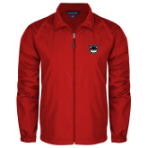 Full Zip Red Wind Jacket-Wolves Shield