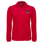 Fleece Full Zip Red Jacket-Wolves Shield