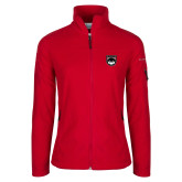 Columbia Ladies Full Zip Red Fleece Jacket-Wolves Shield
