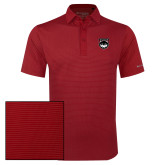 Columbia Red Omni Wick Sunday Golf Polo-Wolves Shield