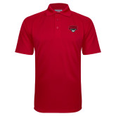 Red Textured Saddle Shoulder Polo-Wolves Club