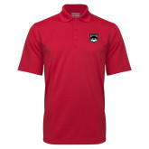 Red Mini Stripe Polo-Wolves Shield