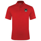 Columbia Red Omni Wick Drive Polo-Wolves Shield