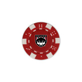 Red Game Chip-Wolves Shield