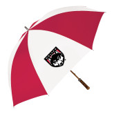 62 Inch Red/White Vented Umbrella-Wolves Shield