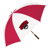 62 Inch Red/White Vented Umbrella-Wolves Club