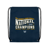 Navy Drawstring Backpack-2018 Womens National Cross Country Champions