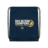 Navy Drawstring Backpack-2018 Lady Owls National XC Champions