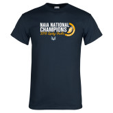 Navy T Shirt-2018 Lady Owls National XC Champions