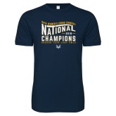 Next Level SoftStyle Navy T Shirt-2018 Womens National Cross Country Champions