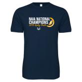 Next Level SoftStyle Navy T Shirt-2018 Lady Owls National XC Champions