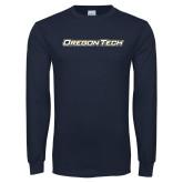 Navy Long Sleeve T Shirt-Oregon Tech