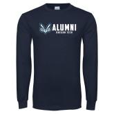 Navy Long Sleeve T Shirt-Oregon Tech Alumni