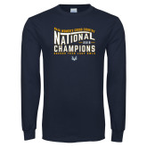 Navy Long Sleeve T Shirt-2018 Womens National Cross Country Champions