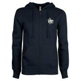 ENZA Ladies Navy Fleece Full Zip Hoodie-OT Claw