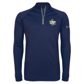 Under Armour Navy Tech 1/4 Zip Performance Shirt-OT Claw