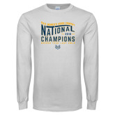 White Long Sleeve T Shirt-2018 Womens National Cross Country Champions