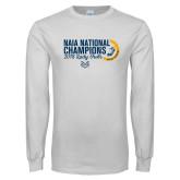White Long Sleeve T Shirt-2018 Lady Owls National XC Champions