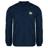 V Neck Navy Raglan Windshirt-OT Claw