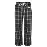 Black/Grey Flannel Pajama Pant-OT Claw