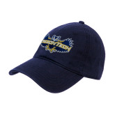 Navy Twill Unstructured Low Profile Hat-Oregon Tech Owl