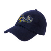 Navy Twill Unstructured Low Profile Hat-Owls