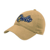 Vegas Gold Twill Unstructured Low Profile Hat-Owls