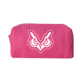 Small Hot Pink Waffle Cosmetic Bag-Primary Mark