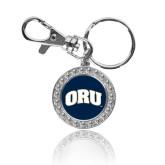 Crystal Studded Round Key Chain-ORU