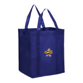 Non Woven Navy Grocery Tote-Eli