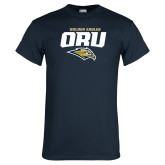 Navy T Shirt-ORU Golden Eagles Mark