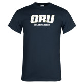 Navy T Shirt-ORU Golden Eagles Distressed