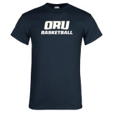 Navy T Shirt-Basketball