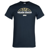 Navy T Shirt-Basketball Arch Design