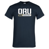 Navy T Shirt-ORU Basketball Design