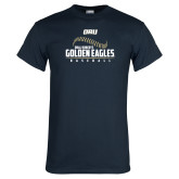 Navy T Shirt-Baseball Stitch Design