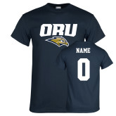 Navy T Shirt-ORU w Mascot, Custom Tee w/ Name and #