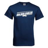 Navy T Shirt-Golden Eagles Slanted w/ Logo