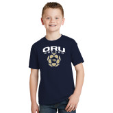 Youth Navy T Shirt-Soccer Design