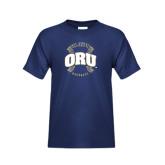 Youth Navy T Shirt-ORU Baseball Seams
