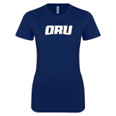 Next Level Ladies SoftStyle Junior Fitted Navy Tee-ORU