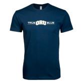 Next Level SoftStyle Navy T Shirt-True ORU Blue