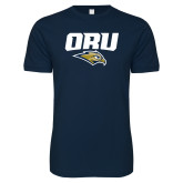 Next Level SoftStyle Navy T Shirt-ORU w Mascot