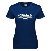 Ladies Navy T Shirt-#ORUAllIn