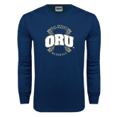 Navy Long Sleeve T Shirt-ORU Baseball Seams