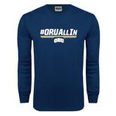 Navy Long Sleeve T Shirt-#ORUAllIn