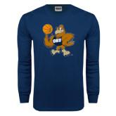 Navy Long Sleeve T Shirt-Basketball Eli