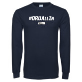 Navy Long Sleeve T Shirt-ORU All In
