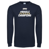 Navy Long Sleeve T Shirt-Whole Person Champions
